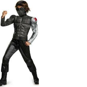 Captain America Winter Soldier MUSCLE Costume- S